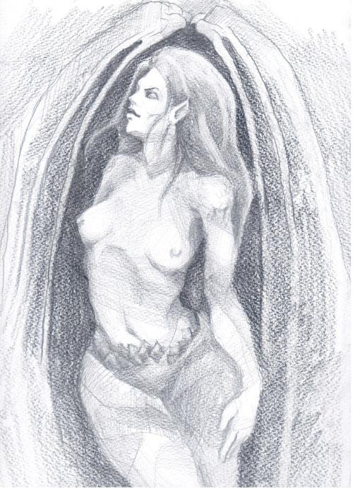 гола снимка на Верена