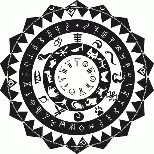 Календар на Кашеп - кръгла форма