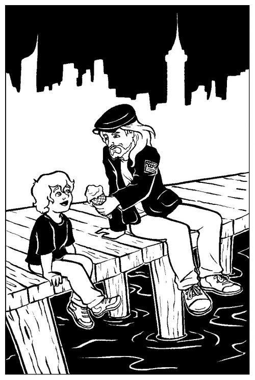 """илюстрация на """"Христос в Ню Йорк"""""""